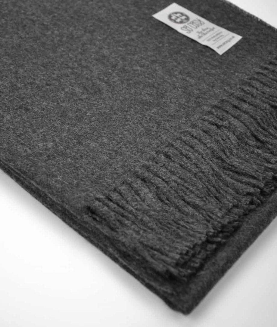 charcoal grey cosy baby alpaca wool throw online