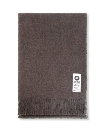 emma baby alpaca wool throw wrap mocha colour