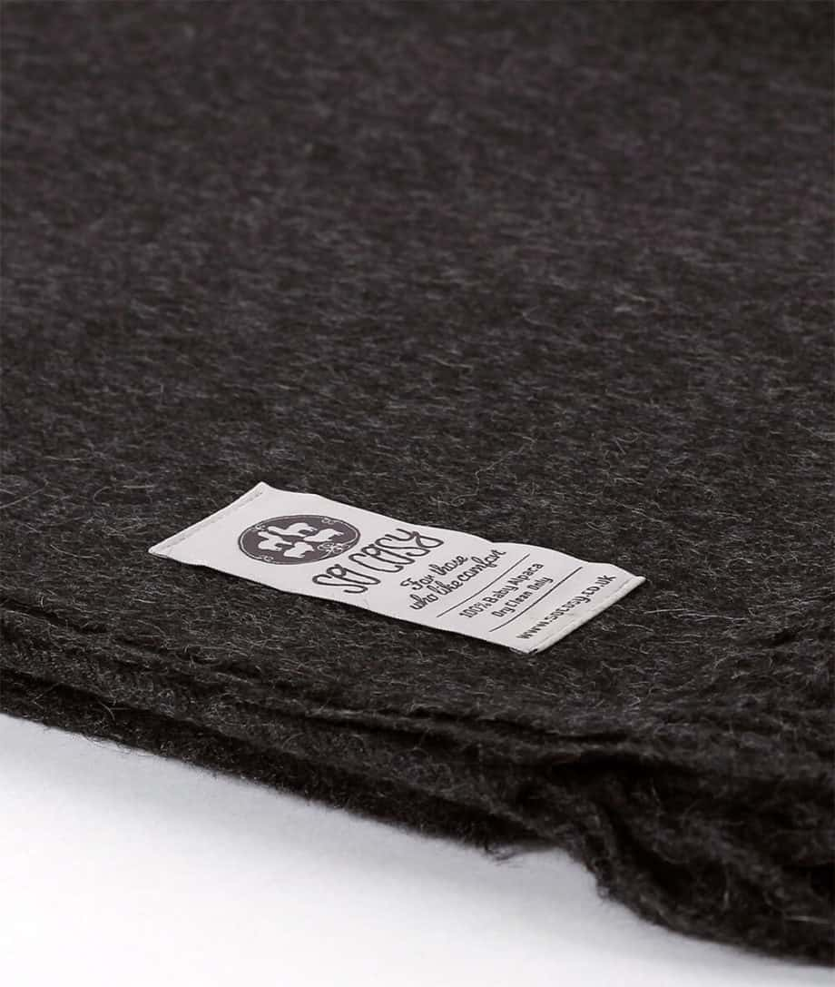 emma charcoal throw