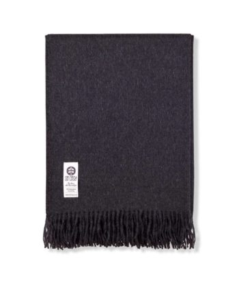 emma baby alpaca wool charcoal colour throw wrap