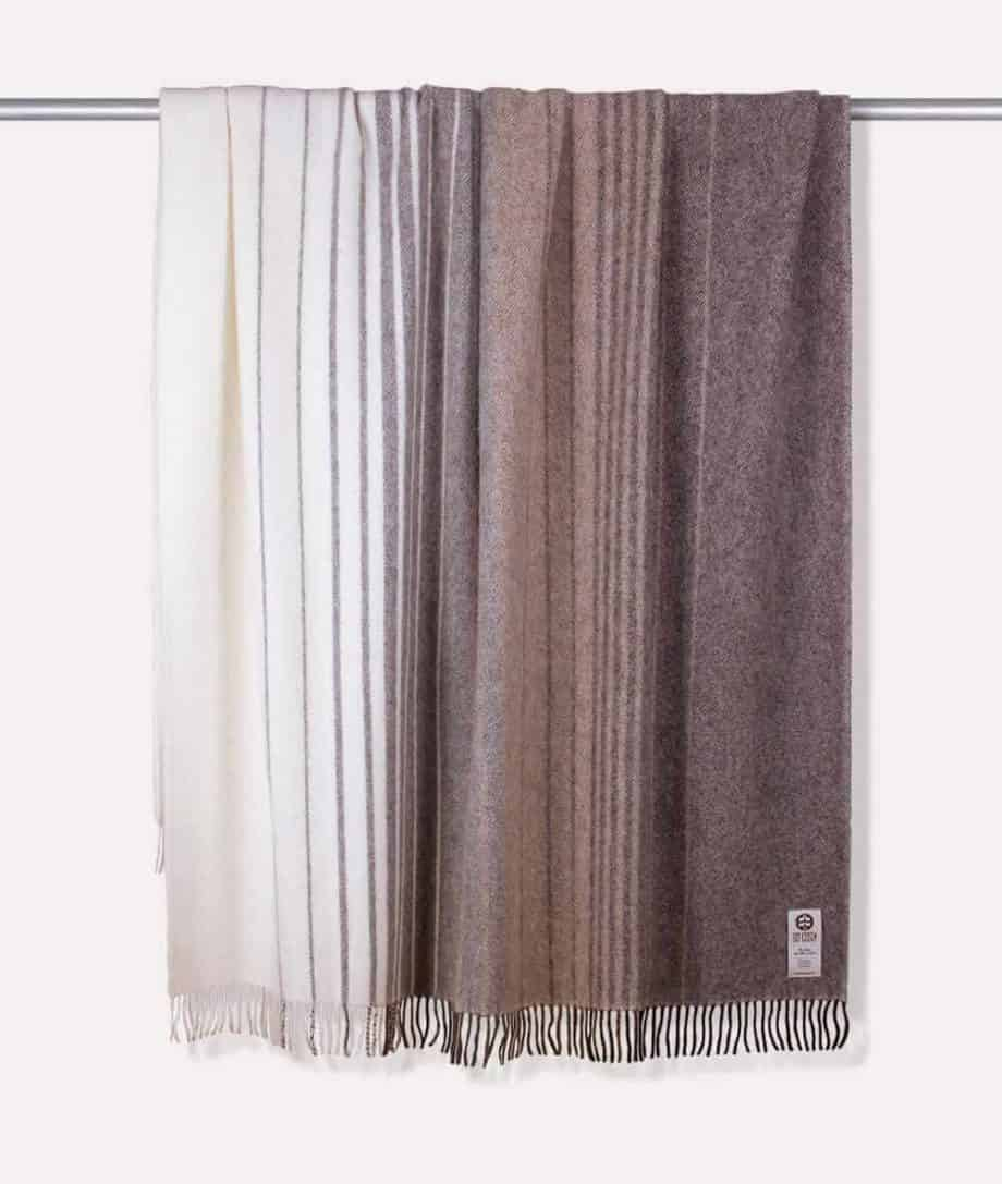 kaja design soft undyed wool throw