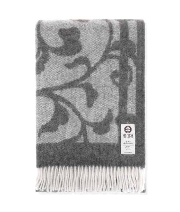 lotte soft large alpaca lambswool throw