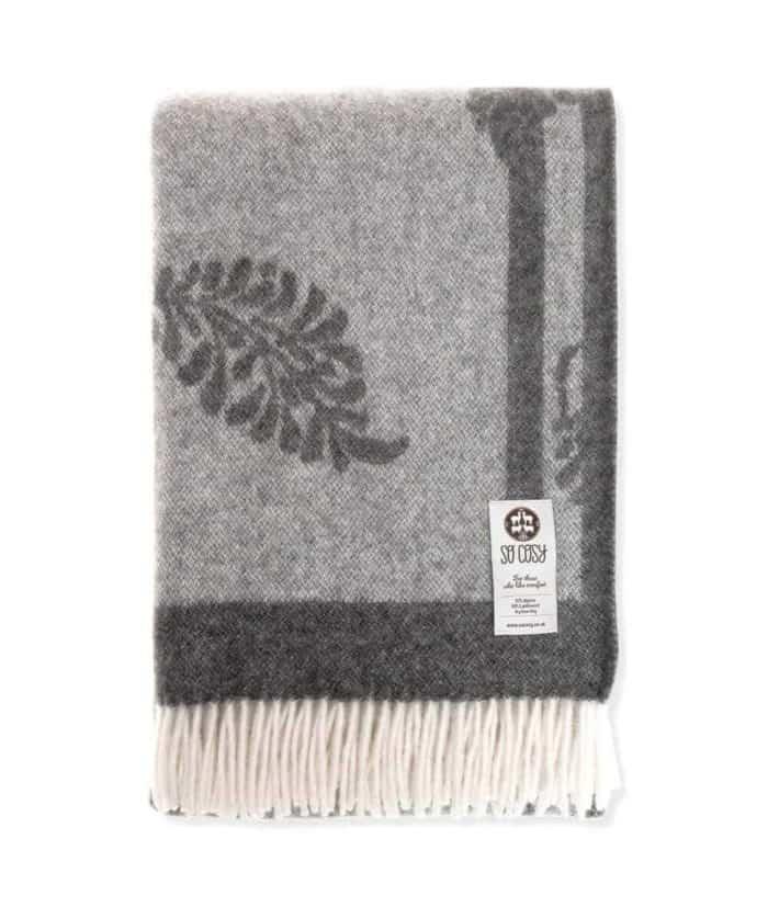 lukka natural wool large blanket