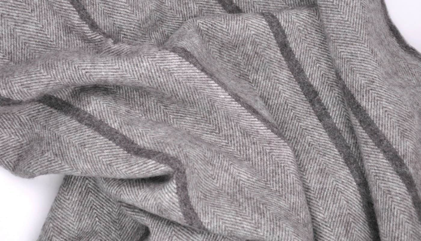 extra large pure wool grey bedspread