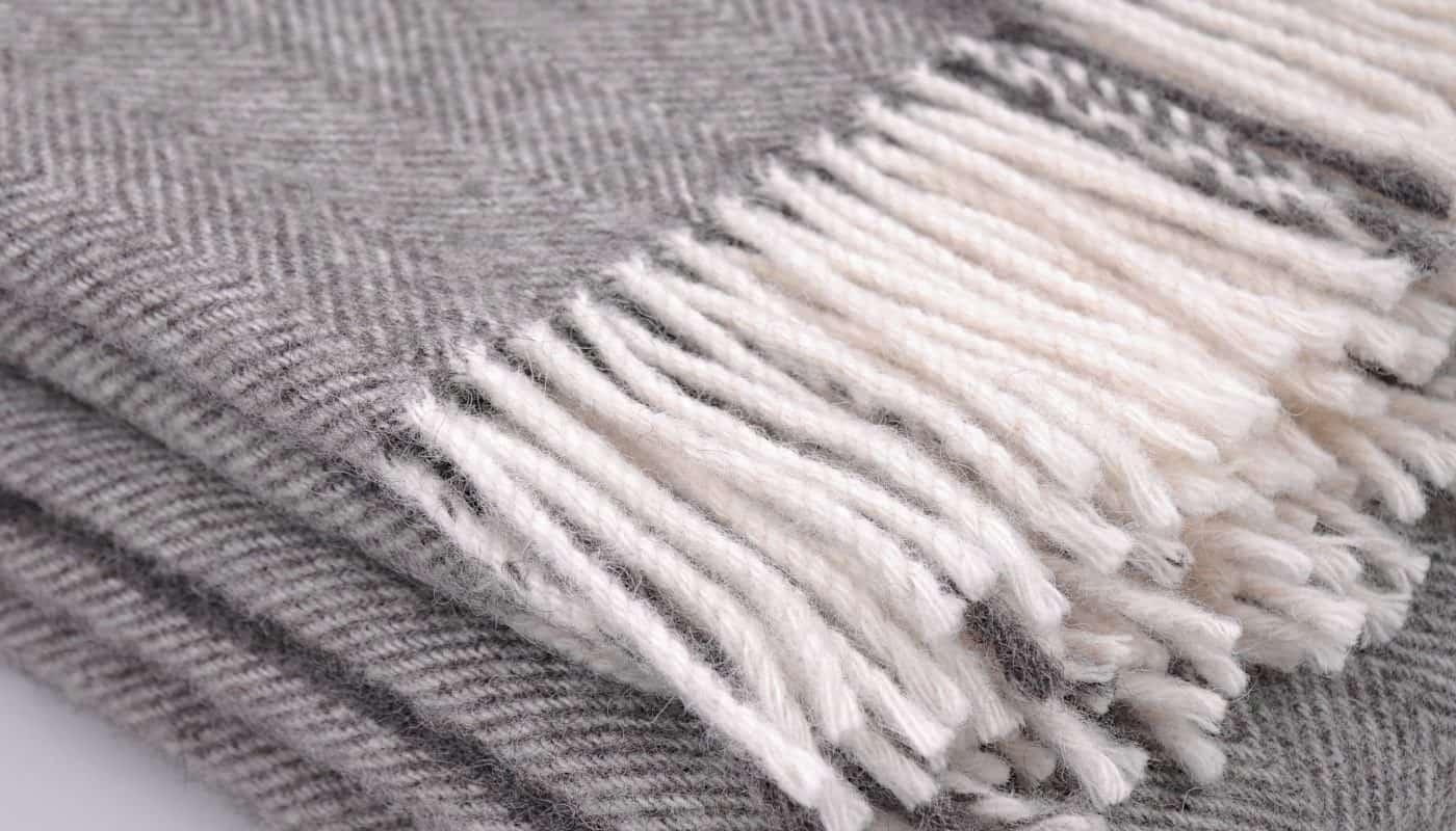 undyed eco gotland sheep grey wool cosy bedspread