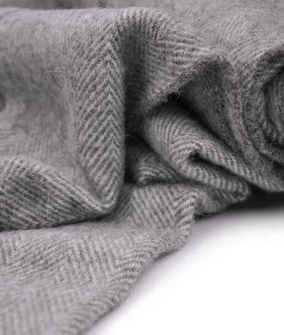 grey cream wool cosy bedspread