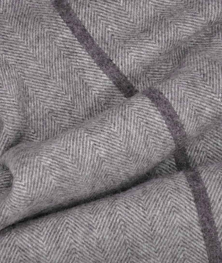 rustic grey cream large cosy bedspread pure new wool