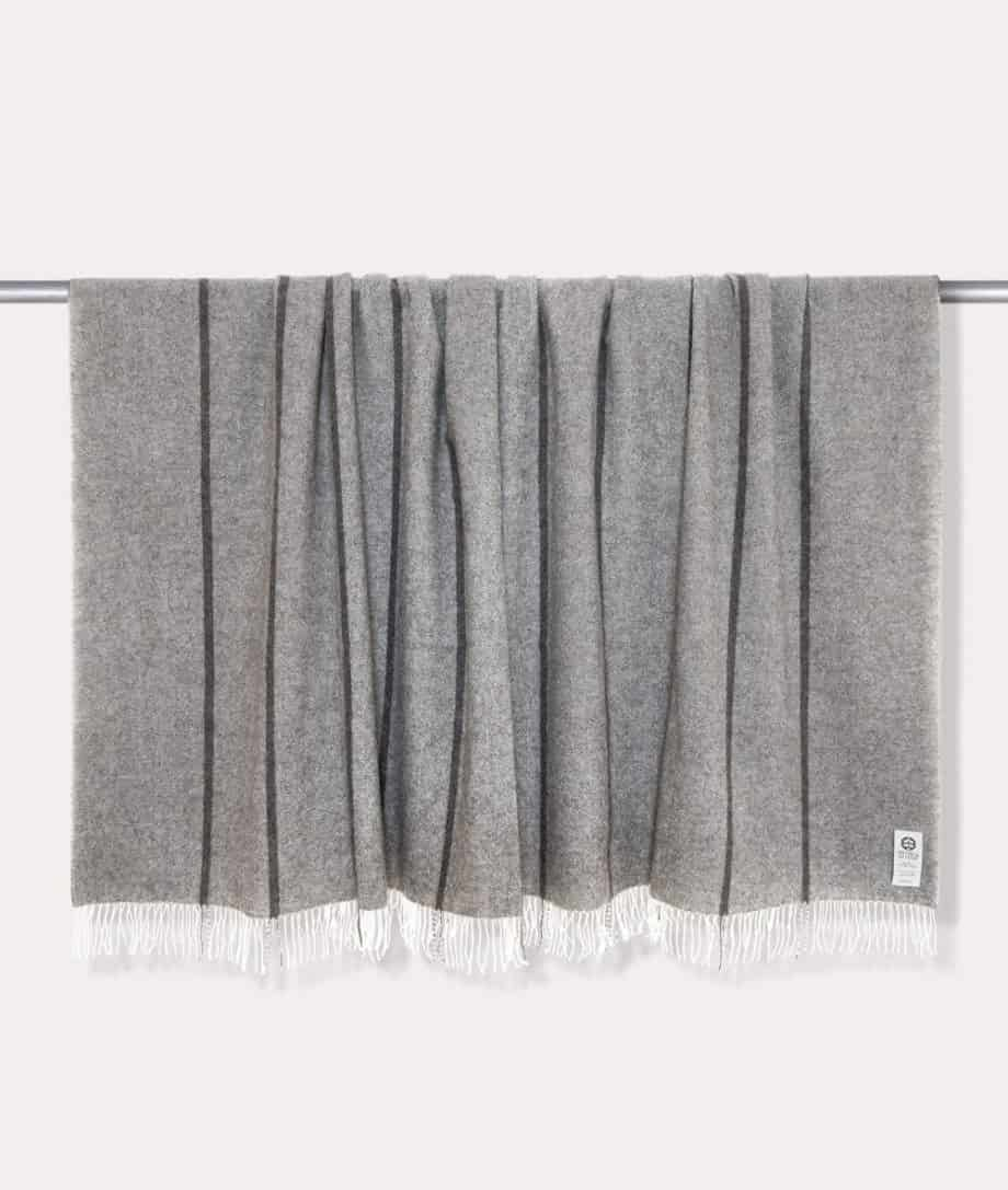 grey undyed gotland wool super king size bedspread