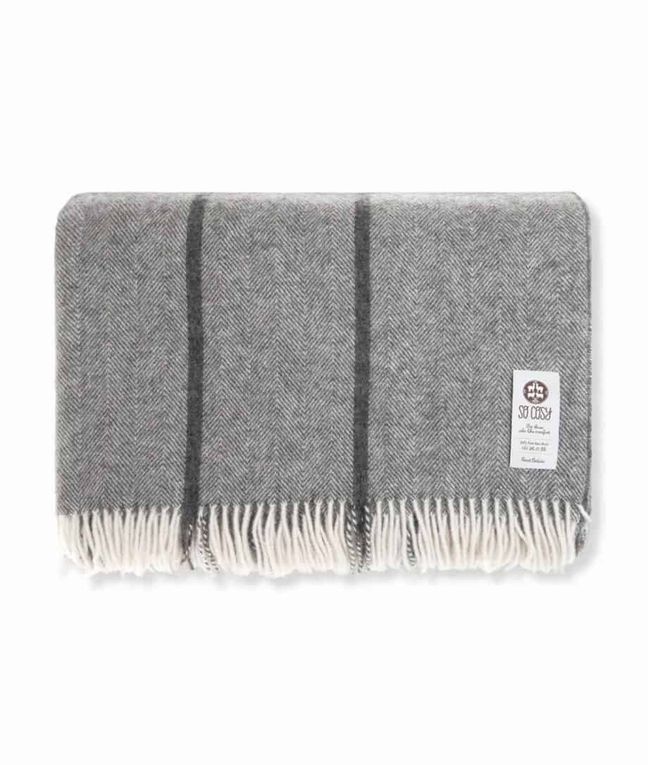 large super king size natural gotland grey wool bedspread