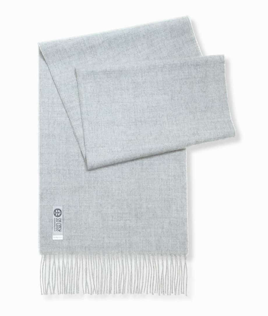cosy light grey colour scarf