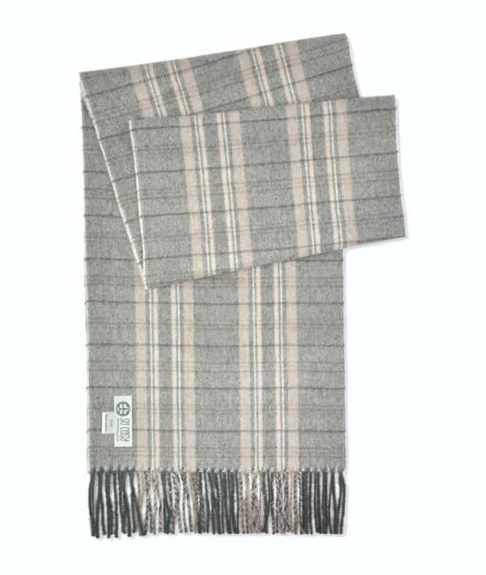 scarf in undyed light grey beige colour