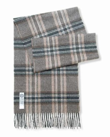 mens charcoal beige check scarf