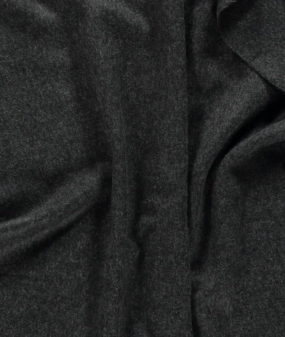 undyed baby alpaca wool charcoal shawl scarf