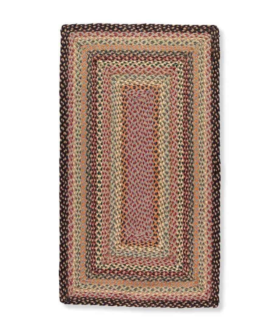 misty blue rectangle shape organic jute rug