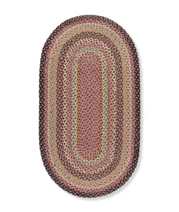 Misty Blue oval rug