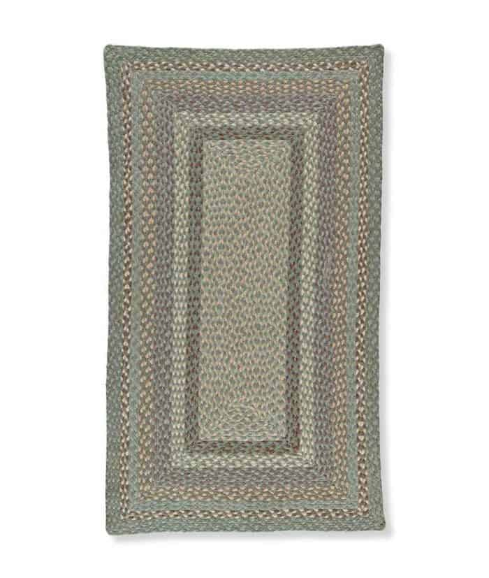 Seaspray rectangle shape rug made from organic jute