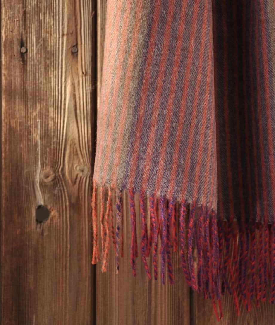 baby alpaca wool scarf purple orange green