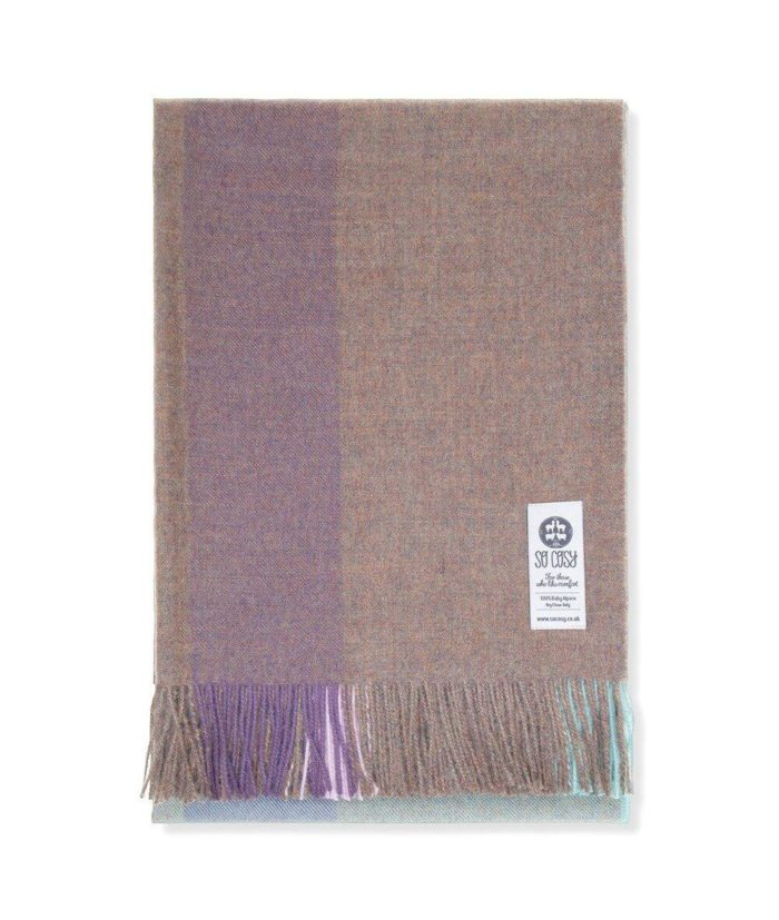 eida baby alpaca wool throw wrap