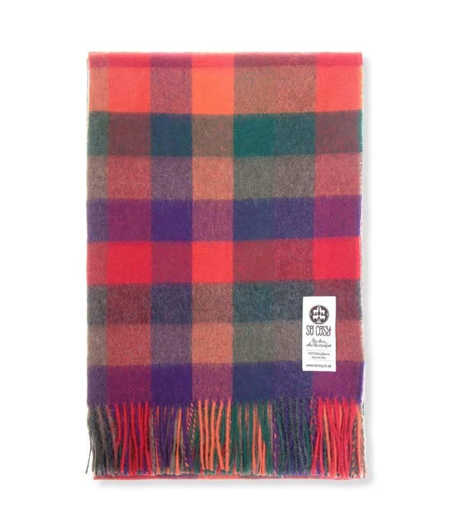 emily soft cosy baby alpaca wool throw blanket