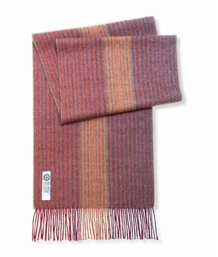 thuri scarf purple orange olive green stripes