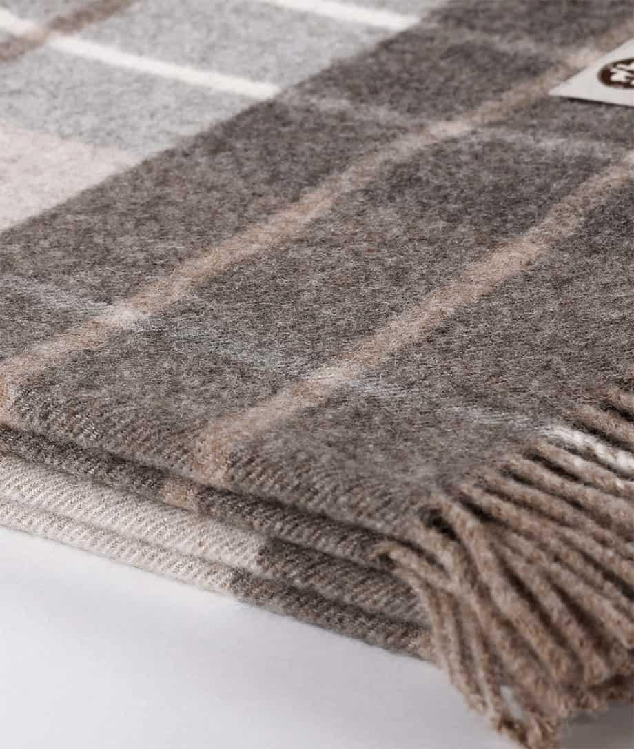 plad check design soft sofa throw