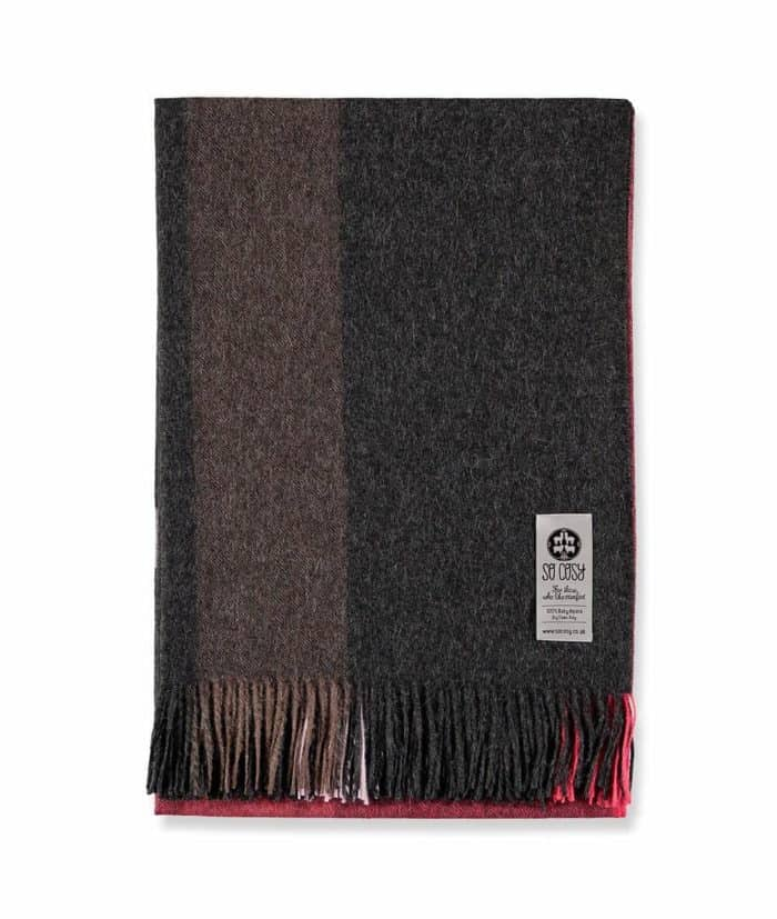 eida alpaca wool throw