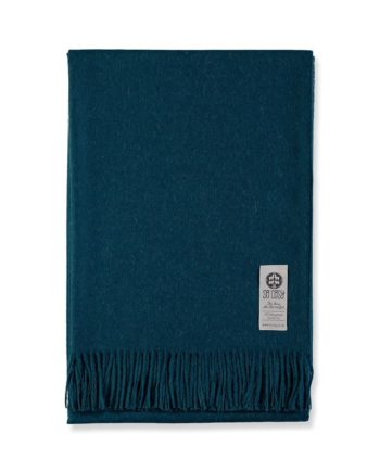emma solid colour alpaca wool throw