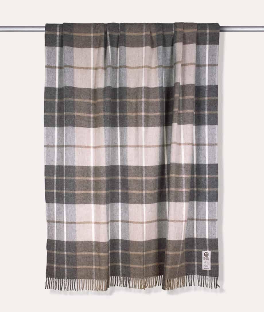 beige grey taupe colour alpaca merino wool cosy throw