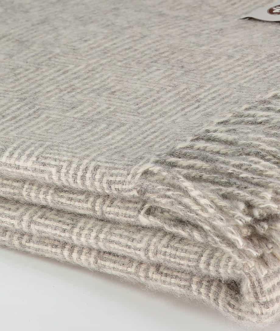 undyed light grey wool large blanket