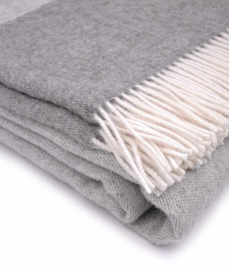 extra large size bedspread grey colour pure wool