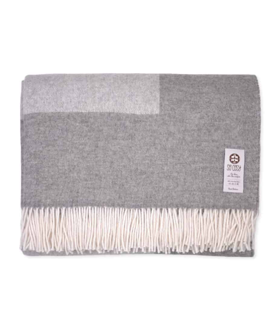 reversible natural grey gotland sheep wool bedspread