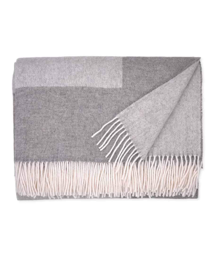 darin reversible light grey gotland pure wool cosy bedspread
