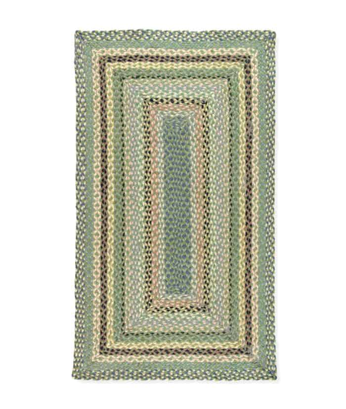 mint colour rectangular shape organic jute rug