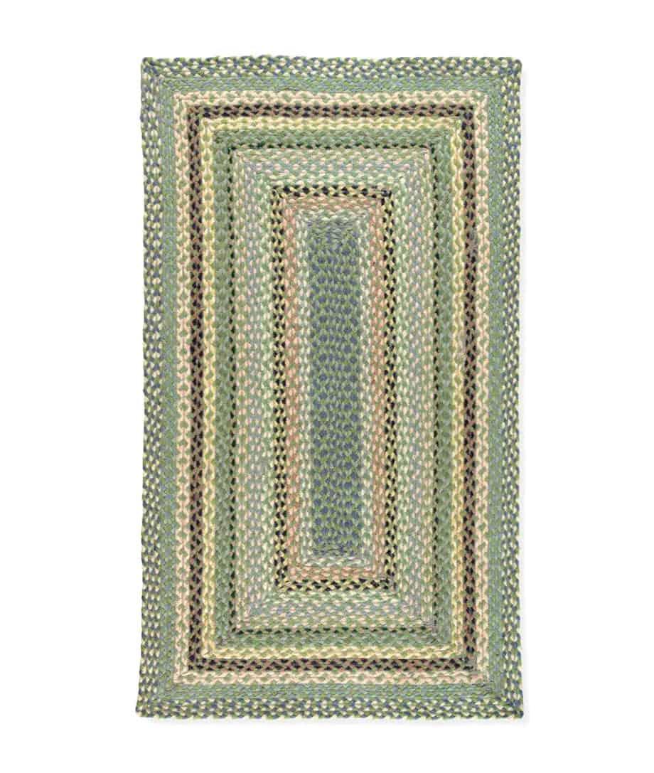 mint colour rectangular shape organic jute rug