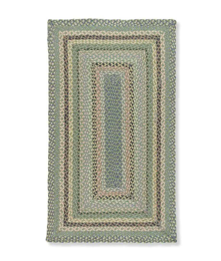 Mint rechteckiger Teppich