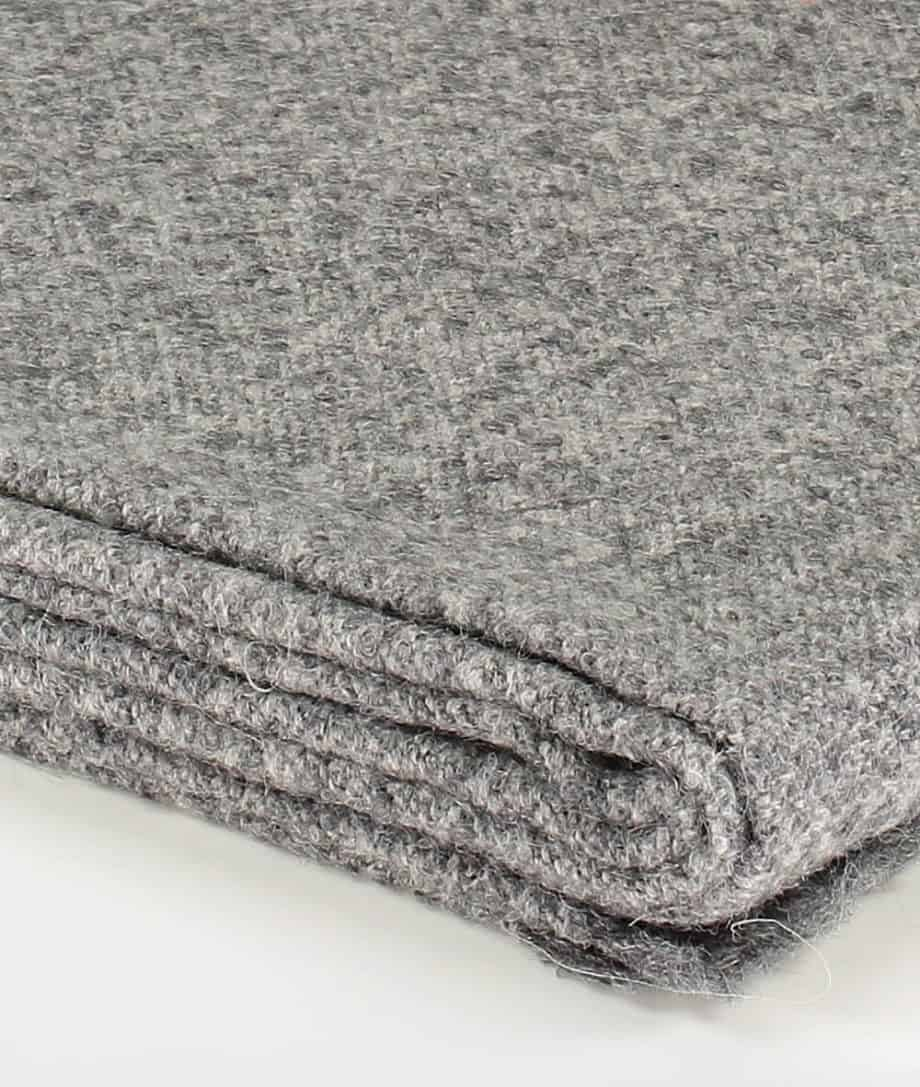 soft alpaca wool wrap or bed runner in grey colour