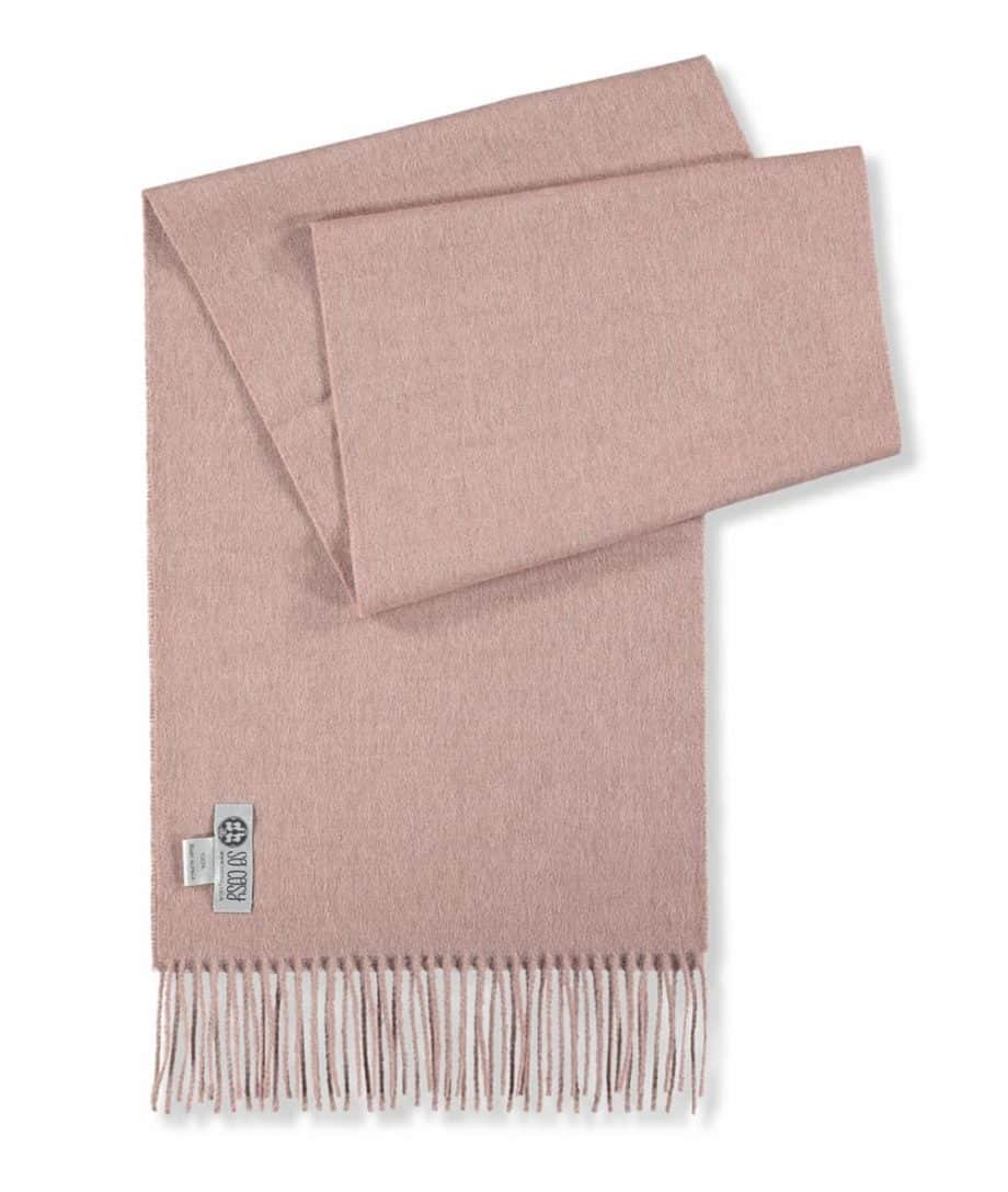 solid colour light rose colour scarf