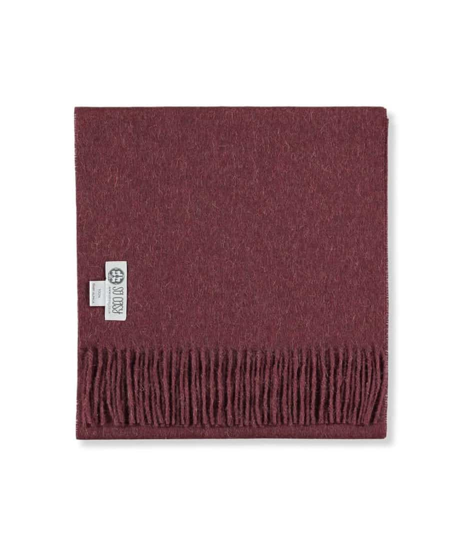 cosy toni scarf in tawny port colour folded