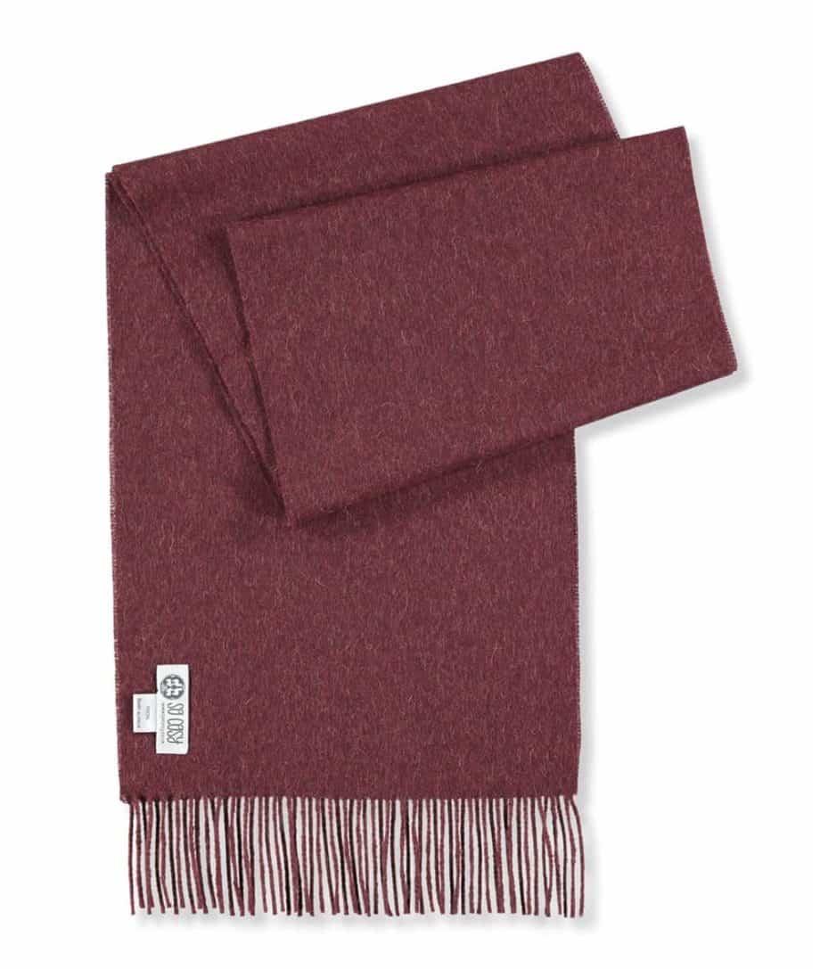 tawny port colour cosy scarf
