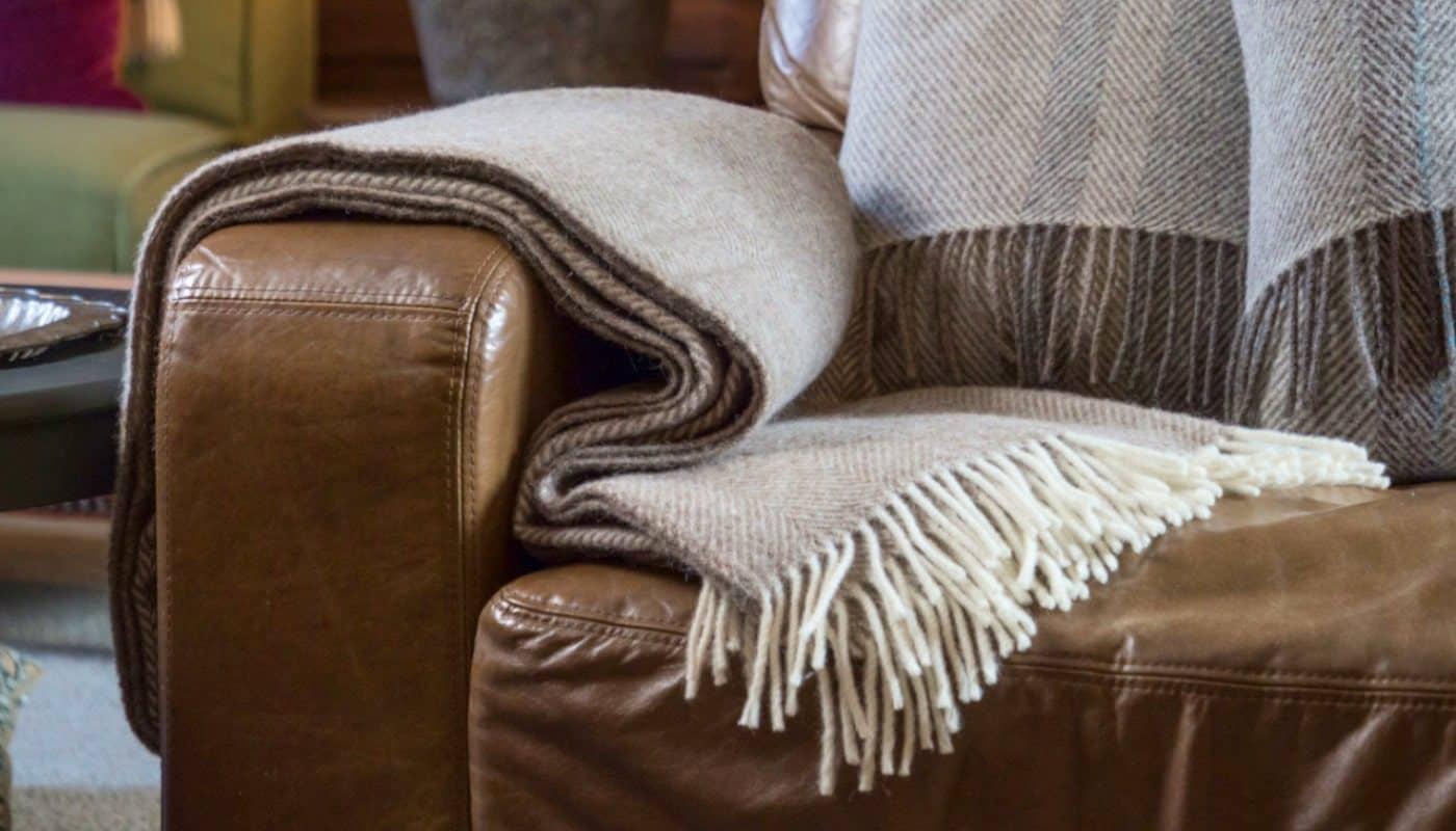 bed sofa herringbone large cosy throw blanket