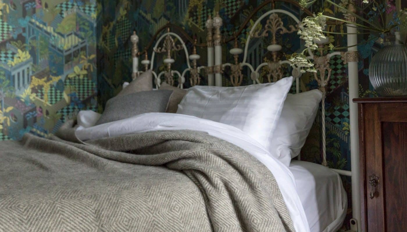 best quality extra large grey gotland sheep pure wool bedspread