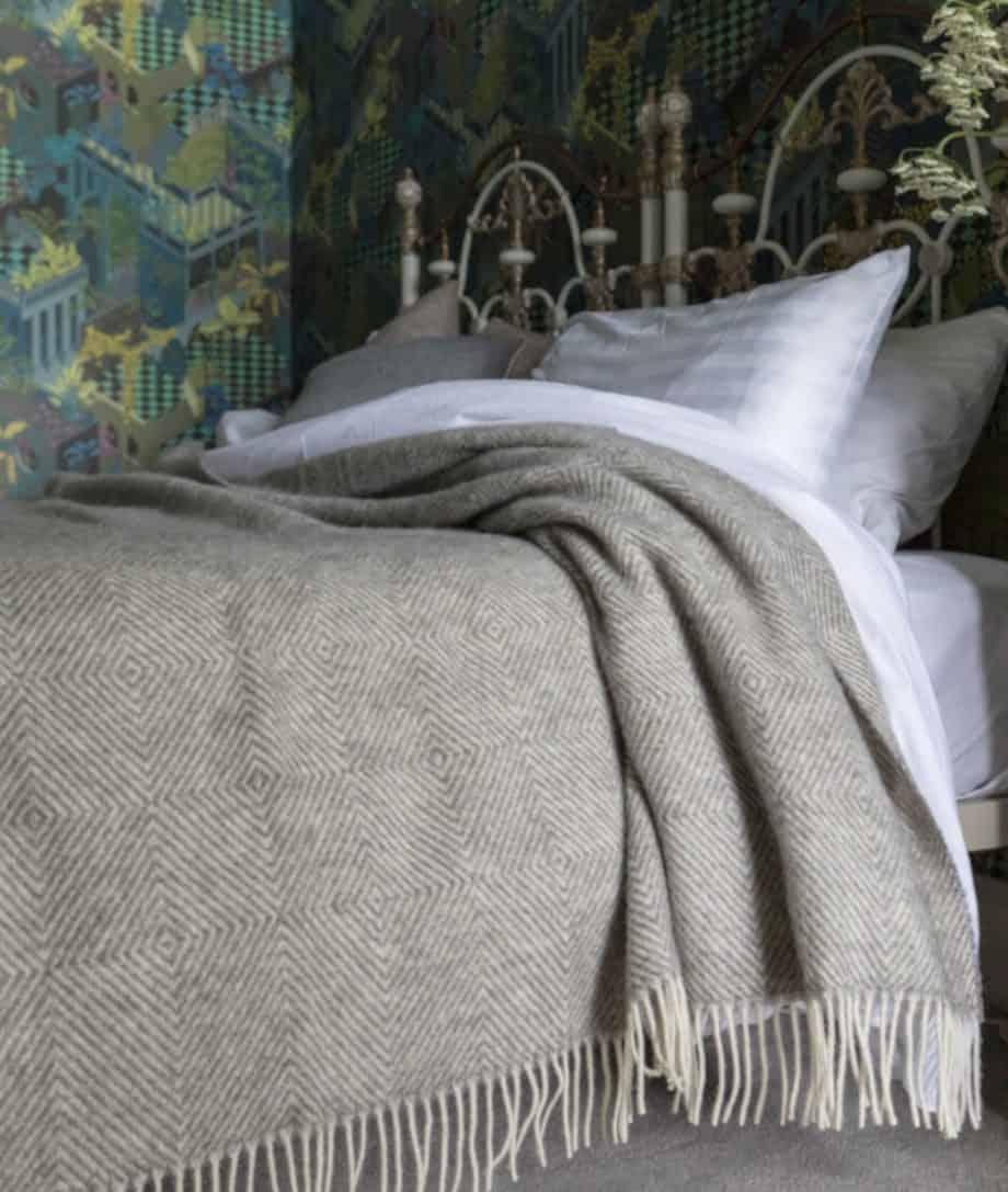 gotland sheep pure new wool grey bedspread