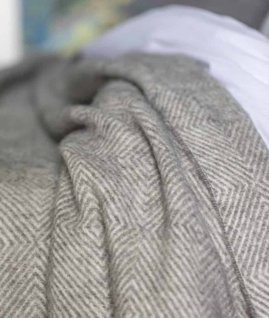 undyed gotland sheep pure new wool extra large grey bedspread
