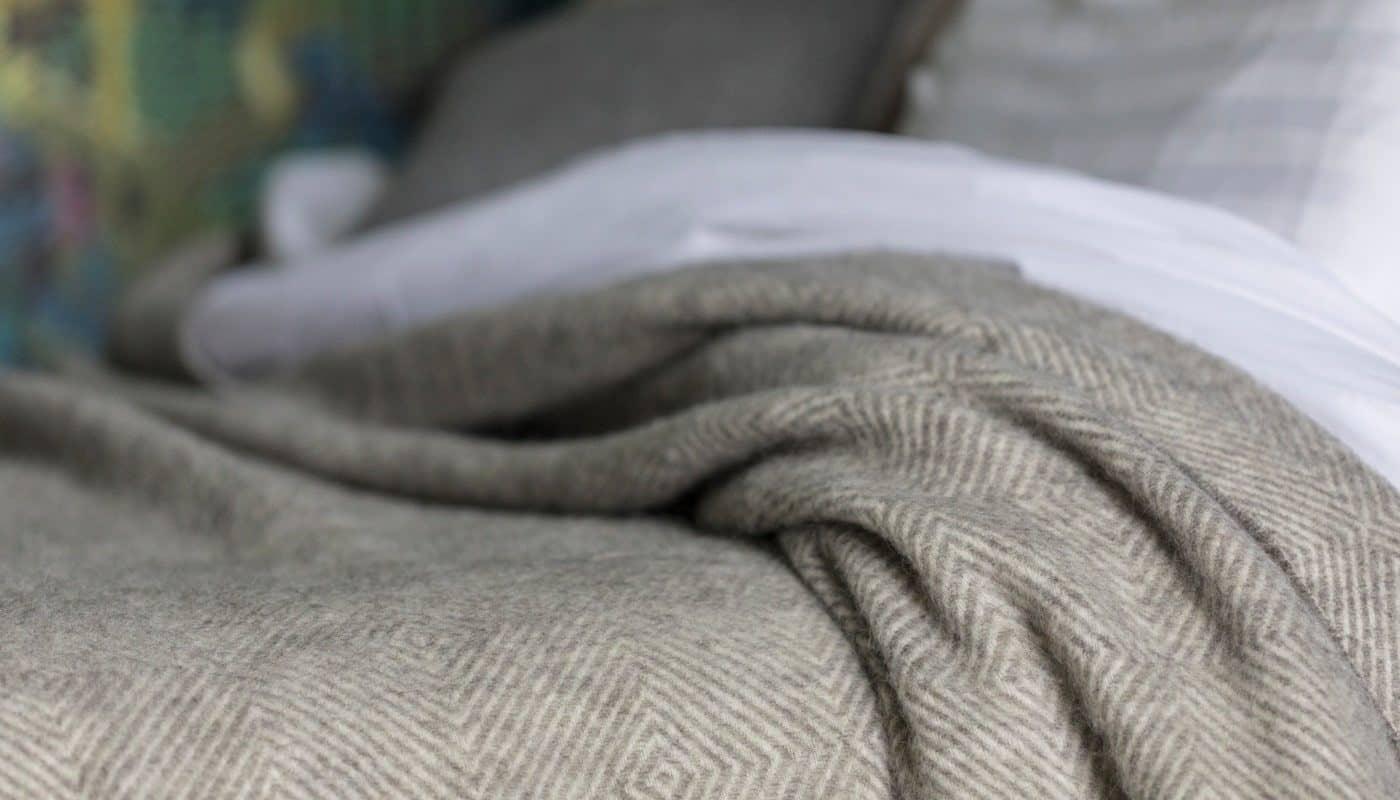 undyed grey gotland sheep pure wool large bedspread