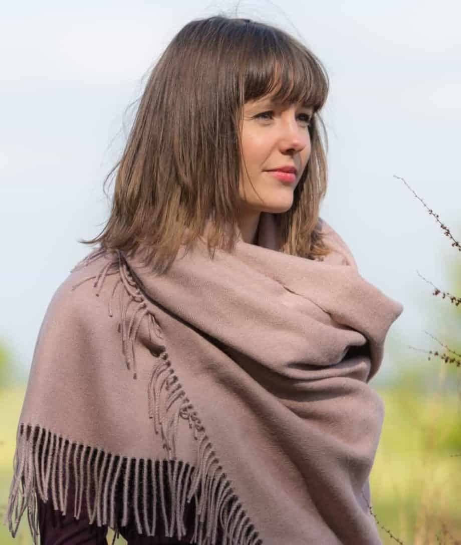 so cosy unique baby alpaca wool shawl wrap in rose colour