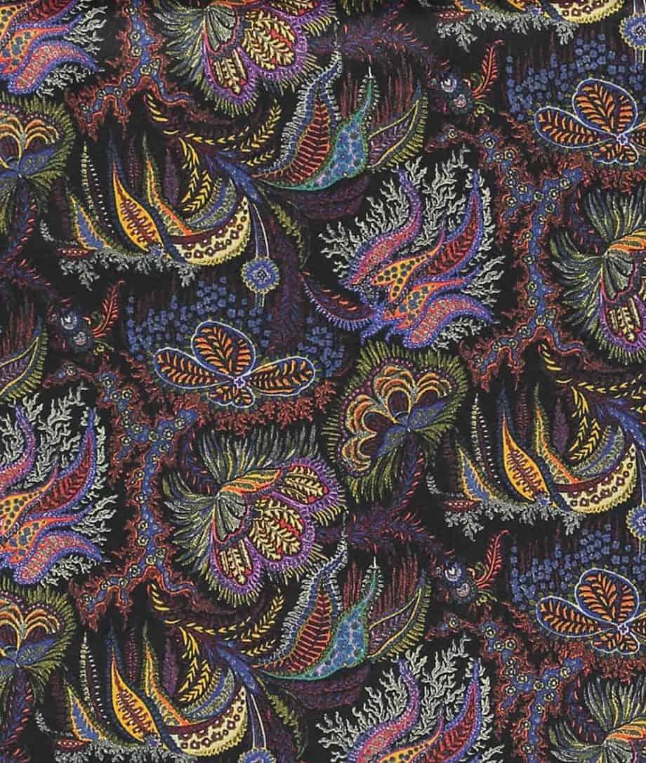 paisley corals liberty print