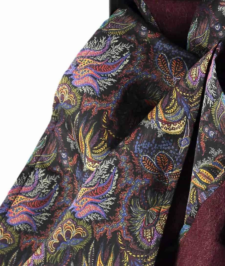 paisley corals liberty print scarf