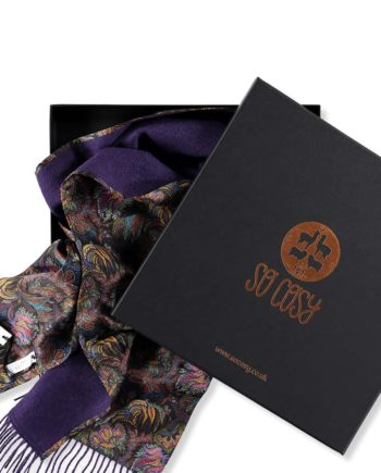 purple paisley corals box packaging