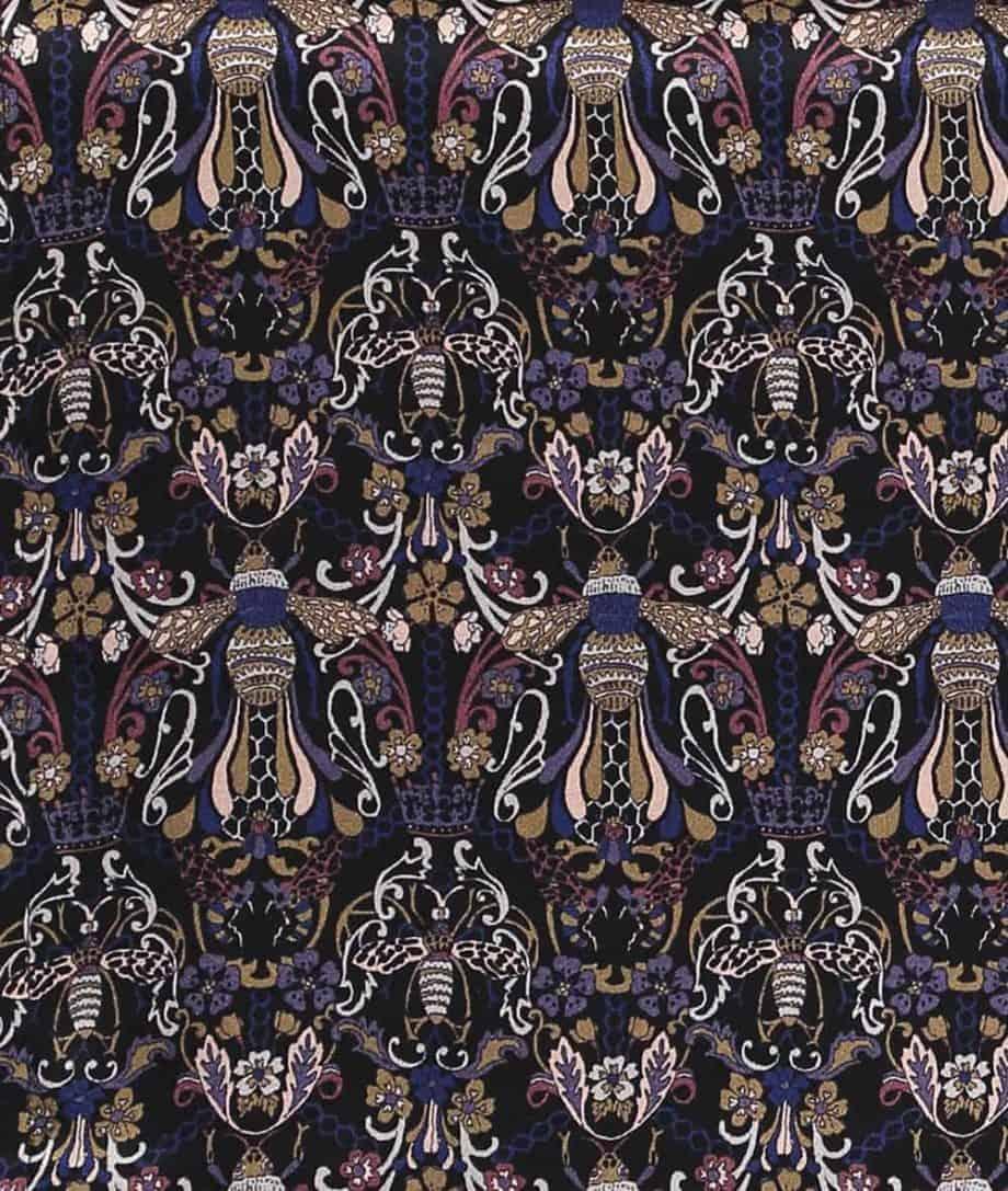 liberty fabric queen bee print
