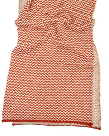 orange and white knitted so cosy scarf